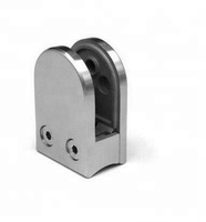 304 Stainless Steel Arc Base Glass Fixed Clamp