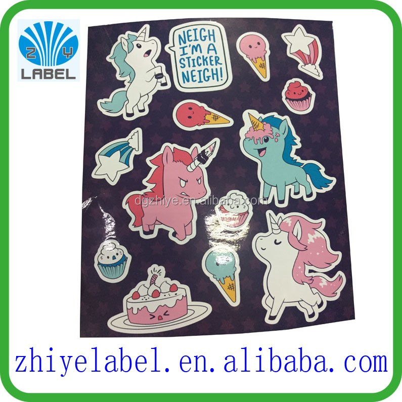 Quality custom individually kiss cut sticker sheets Vinyl adhesive paper promotional Sticker Printing With Your Sticker Design