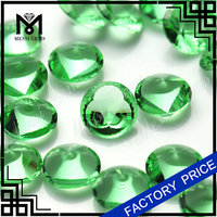 Round12.0mm Apple Green Fancy Table Loose Glass Gem for Jewelry