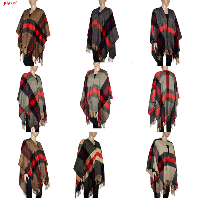 Coat women shawl poncho wool cashmere pashmina shawl cape
