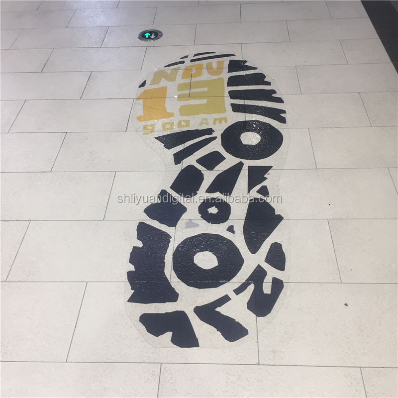 Shopping Mall Decoration Floor Decals Footprints