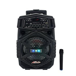 8inch Plastic Professional Active Speaker Bluetooh battery trolley bluetooths speaker with one mic