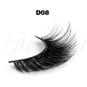 8b76797937e High quality handmade strip fake eyelash 3D strip eye lashes 0.07 with custom  package