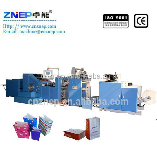 ZD-F190 The Most Popular Automatic Mcdonalds' Block Bottom Paper Bag Machine