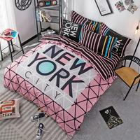 100% polyester fashion 4pcs bedding set