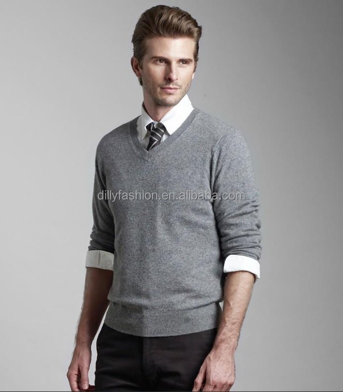 Men Cashmere Silk Sweater V Neck Sweater Knitting Pattern For Men
