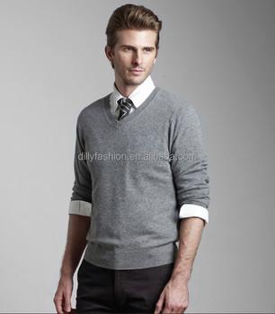f5e13409b Men Cashmere Silk Sweater V Neck Sweater Knitting Pattern For Men ...