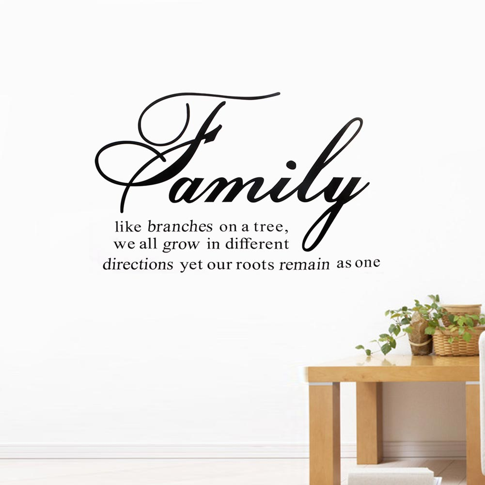 Hot Family Like Branches on a Tree Warm Quote Diretions Motto Art Vinyl Decal Wall Sticker Mural Decals Room Home Decoration
