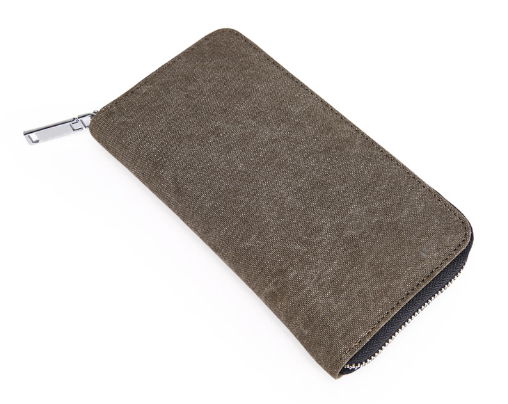 Long Style Canvas Wallet Bag with Many Card Pockets
