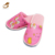 washable polyester pink cute printing animal children slipper