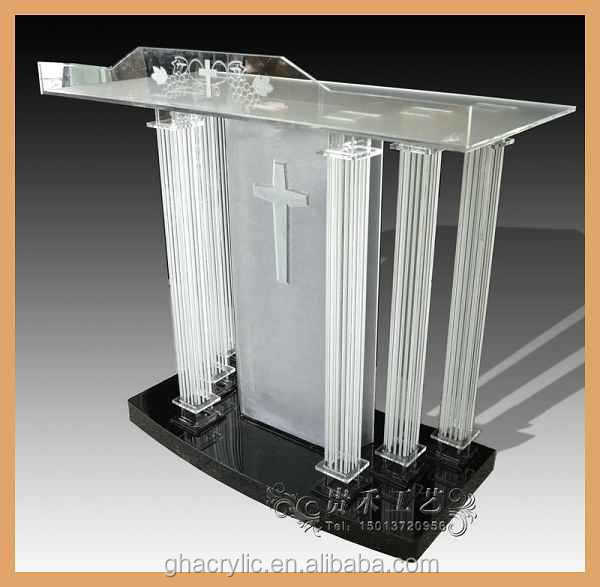 Factory Hot Sale Acrylic Church Podium Plexiglass Pulpit Designs ...