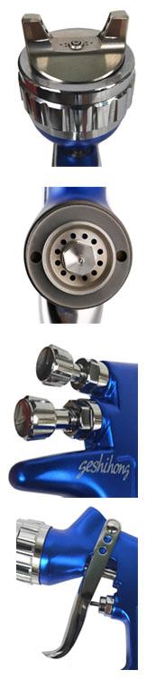 Pintura de baixa pressão-resistente ao desgaste-resistente bico injetor de spray de atomização fina geral arma 600cc copo