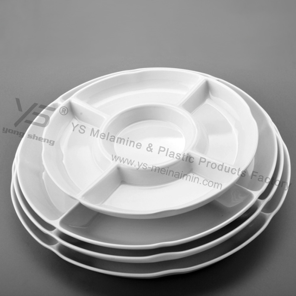 unbreakable melmaine divided plates factory for sale