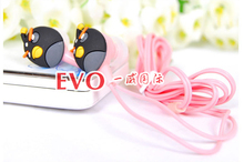 New Cartoon Anime Earphone Minion despicable Me 3 5mm birds Headphones For i Phone Mobile Phone