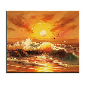 Sea view Handmade Popular Wall Art Abstract Canvas Oil Painting for home decor