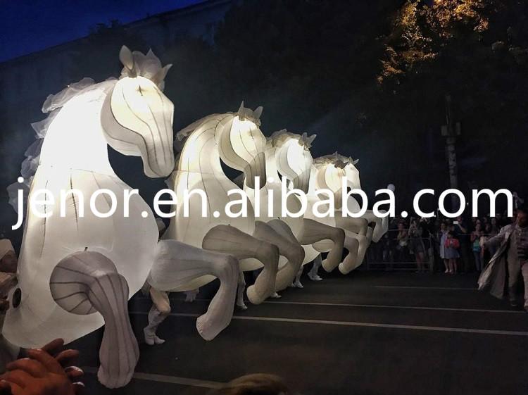 Led Verlichting Opblaasbare Paard Kostuum Voor Carnaval Parade - Buy ...