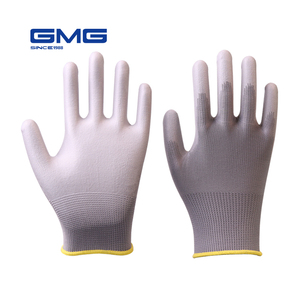 Fashion Garden Gloves GMG 13G Gray Polyester Shell PU Coated Working Gloves Online Shopping