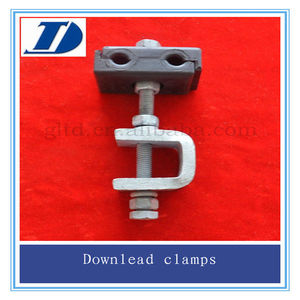 ADSS Cable Accessories Hot Galvanized Steel Downlead Clamp