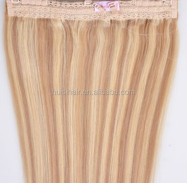 Full nutrition virgin remy halo hair thin fine hair styles pictures high quality highlighted fishline hair with lace