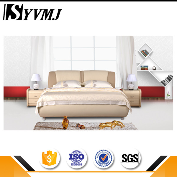 Best selling leather/fabric bed upholstered bedstead with good price wholesale online