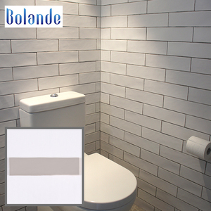 Strip Ceramic Gray Backsplash Subway Tile 75x300mm Grey Colour Kitchen Wavy Pattern Wall Brick Tiles