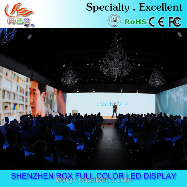 Super thin P3 indoor video show background rental LED video wall