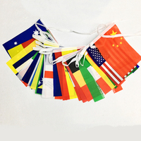 Hot sale world cup 32 countries bunting string flag