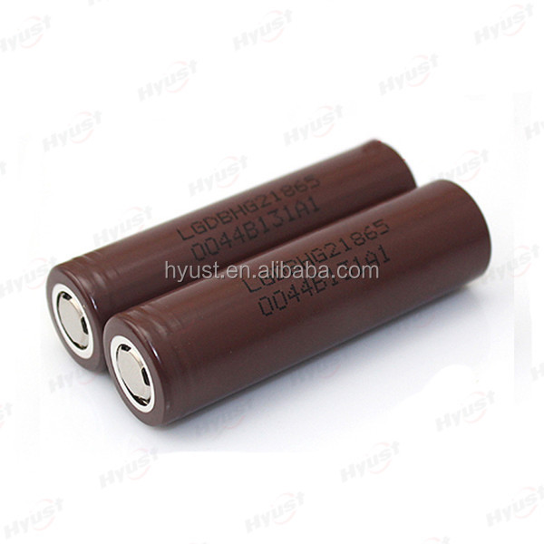 Newest ! Authentic 100% lg chocolate battery 18650 HG2 3000mAh 20A amp 3.6V 20A discharge rechargable lg lithium ion battery