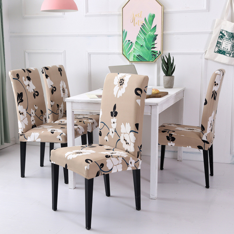 Flower Printed Elastic Chair Cover Removable Washable Stretch Banquet Hotel Dining room Chair Cover