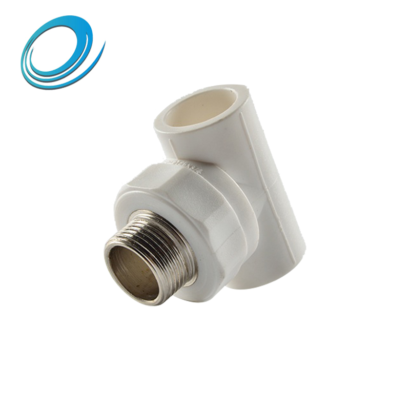 PPR plastic pipe water main threaded male tee for sale