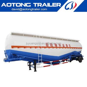 China manufacturer V shape bulk cement and dry powder tanker semi trailer of truck trailer chassis on sale Dai