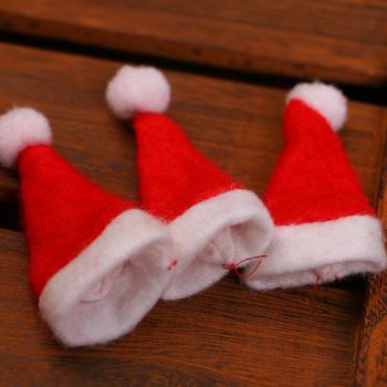 6f8060d36c149 Hot Sale Mini Santa Claus Hat Christmas Xmas Holiday Lollipop Top Topper  Cover Festival Decor Wholesale