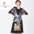 Lady Fashion Cotton Eagle Printing Sequin Short Sleeve Dress