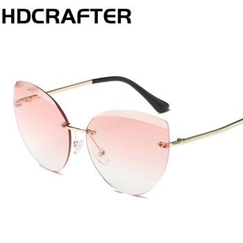 f9986eb5eb4049 HDCRAFTER Fashion female cat s eye sunglasses brand original design sunglasses  female