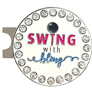 Giggle Golf Bling Swing With Bling Golf Ball Marker With A Standard Hat Clip