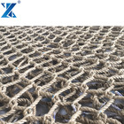15 * 15 20mm de 3 fios de fibra natural sisal corda net