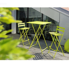 Murah Besi Tempa Lipat Bar Furniture Patio Set