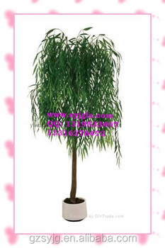 Slender Artificial Weeping Willow Tree Fake Willow Bonsai Tree Green Artificial Osier View Artificial Willow Tree Shengyuan Product Details From Guangzhou Qingyuan Landscape Garden Design Co Ltd On Alibaba Com
