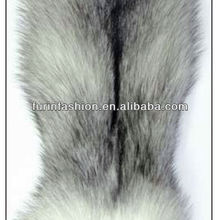 Fluffy Real Blue Fox Fur Skin for Collars,Vest,Jacket,Coats and Trimming