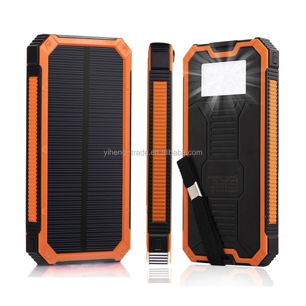Portable Universal Solar Sun Power Charger,Solar Power Bank,Sun Power Bank  For Mobile Phone/iphone/ipad - Buy Powerbank 12000mah,Solar Power Bank With