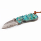 VG10 Damascus Steel Small Pocket Folding Knife gift Knife with Abalone Shell handle