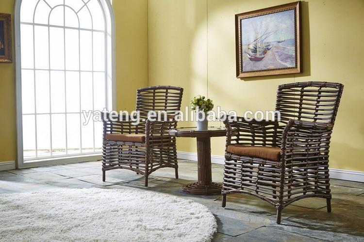 negro de mimbre muebles de jardnratn al aire libre restaurante mesa de comedor y