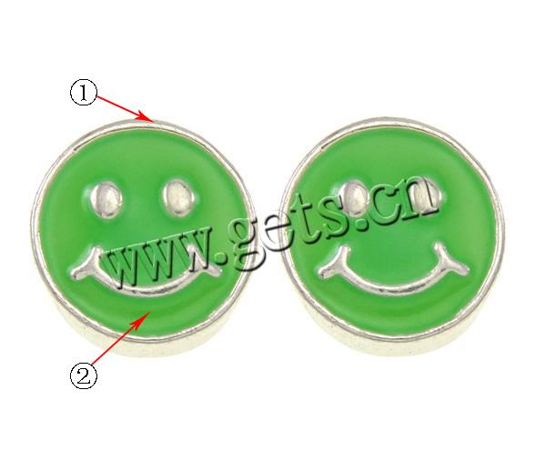 Zinc Alloy Smiling Face Smiley Face Beads 788530