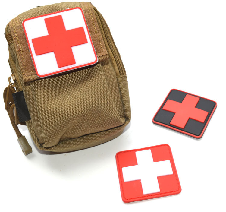 Rock & Pop Mini 3d Pvc Rubber Red Cross Flag Of Switzerland Swiss Cross Patch Medic Paramedic Tactical Army Morale Badge