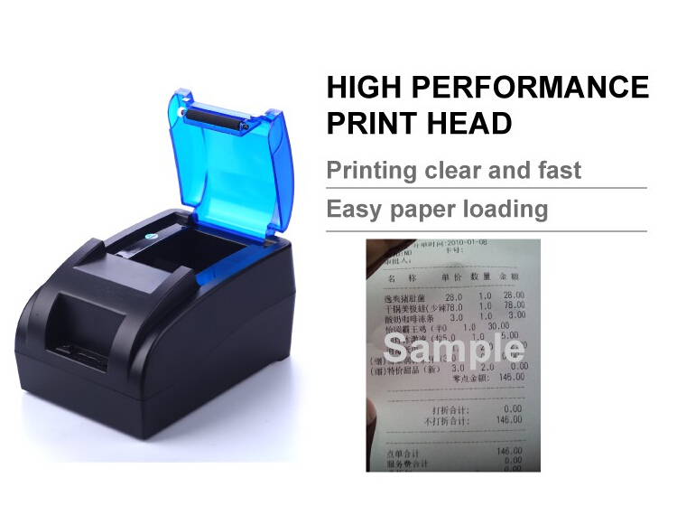 Desktop Thermal Receipt Printer 58mm Paper Printer USB POS Printer for