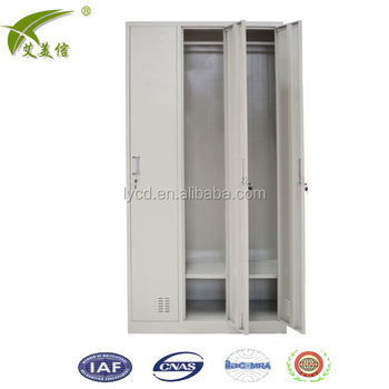 Online shopping 3 door dormitory metal wardrobe locker designs with mirror  inside steel 3 person clothes