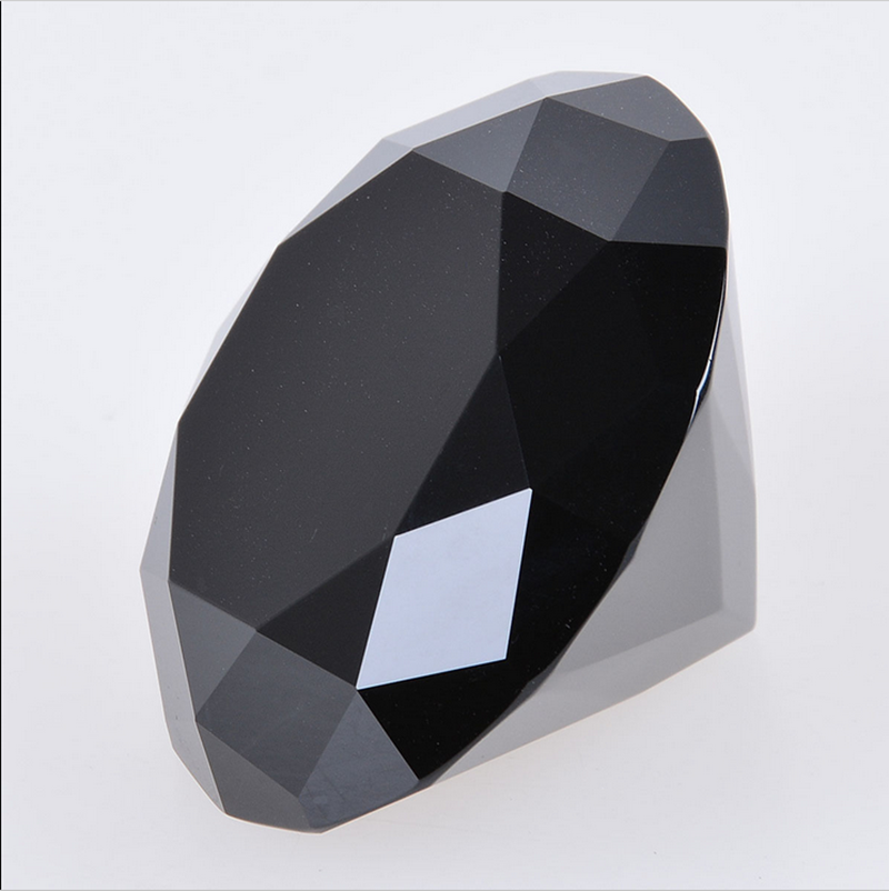 crystal diamond, black color crystal diamond paperweight
