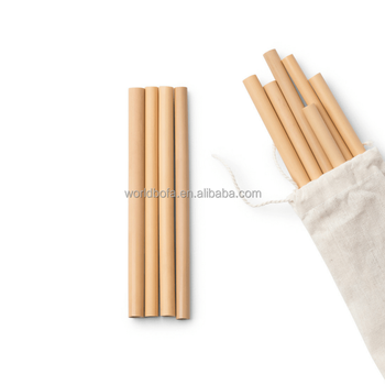 Eco friendly bamboo straws pitillos reusable compostable natural dringking bamboo straw with pouch