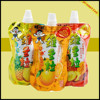 juice pouch liquid stand up pouch with nozzle spout pouch