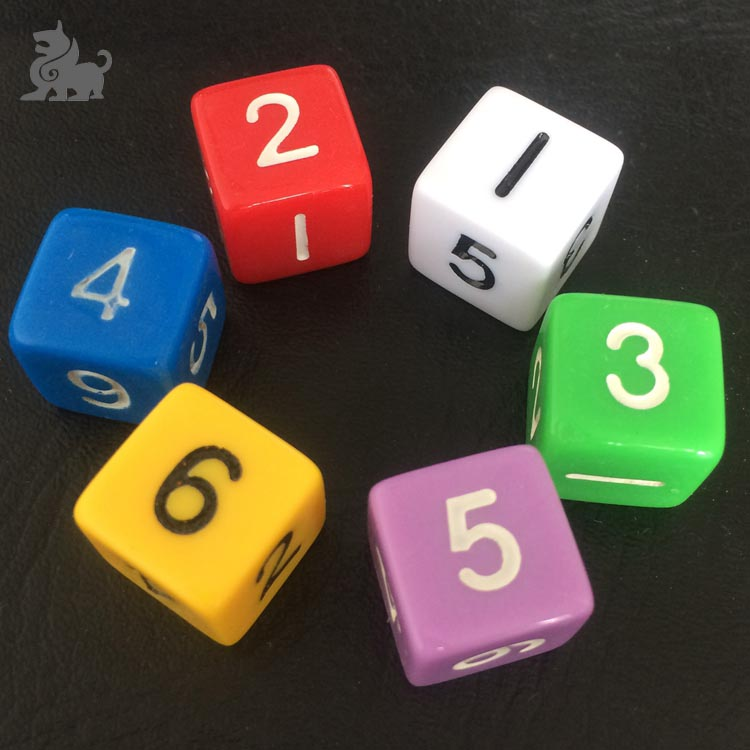 16mm Plastica gioco di dadi personalizzati Dadi del Gioco all'ingrosso